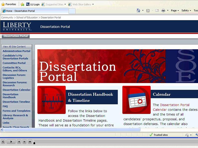 Phd thesis portal